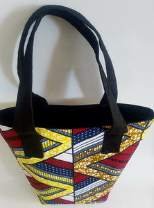 Handmade African/Ankara/kitenge Multi Coloured Wax fabric Tote Bag