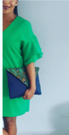 FREE SHIPPING!  Large Peacock Envelope Clutch