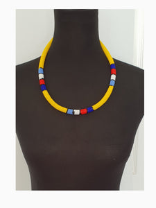 Yellow Ndebele Necklace Set