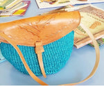 Turquoise Blue Small Kiondo Bag/ Kenyan Ethnic Kiondo bag