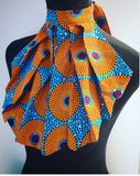 Ankara Wax Fabric Collar Neckwear