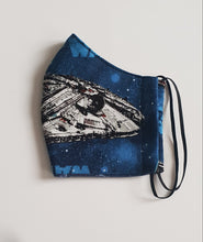 Load image into Gallery viewer, Fabric Face Mask, Blue/Star Wars Fabric