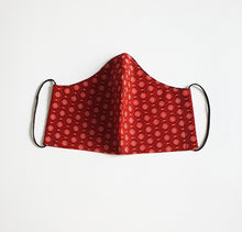 Load image into Gallery viewer, Red South African Shwe Shwe Fabric Face Mask