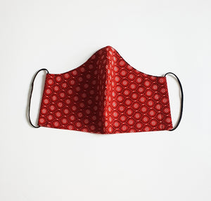 Red South African Shwe Shwe Fabric Face Mask