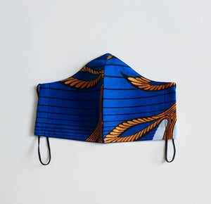Royal Blue/Gold Ankara/Wax African Cotton Fabric