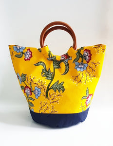 Yellow Basket Tote