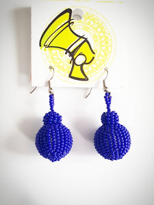 Royal blue Ndebele Earings