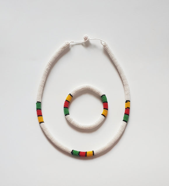 White Ndebele Choker Set