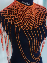 Load image into Gallery viewer, Orange Zulu Beaded Necklace