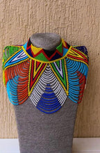 Load image into Gallery viewer, Peacock Handmade Zulu/Masai Necklaces