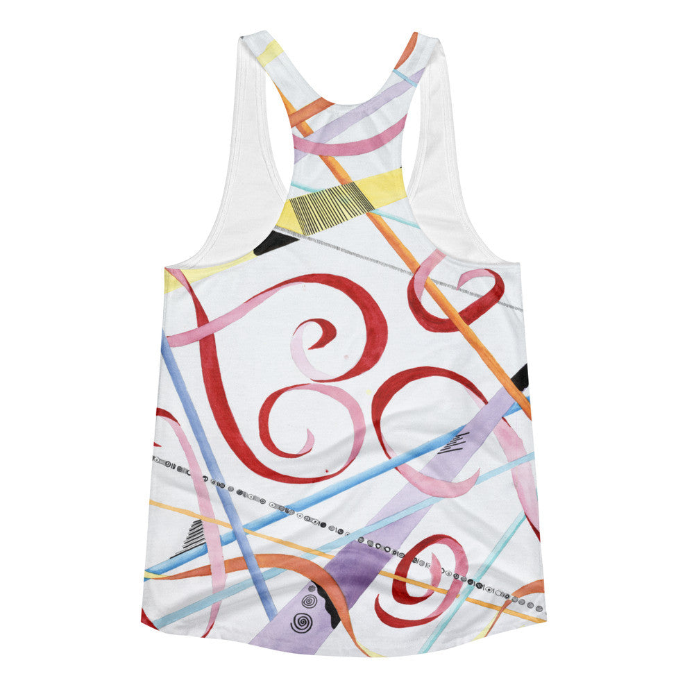 Whimsical Love Women's racerback tank