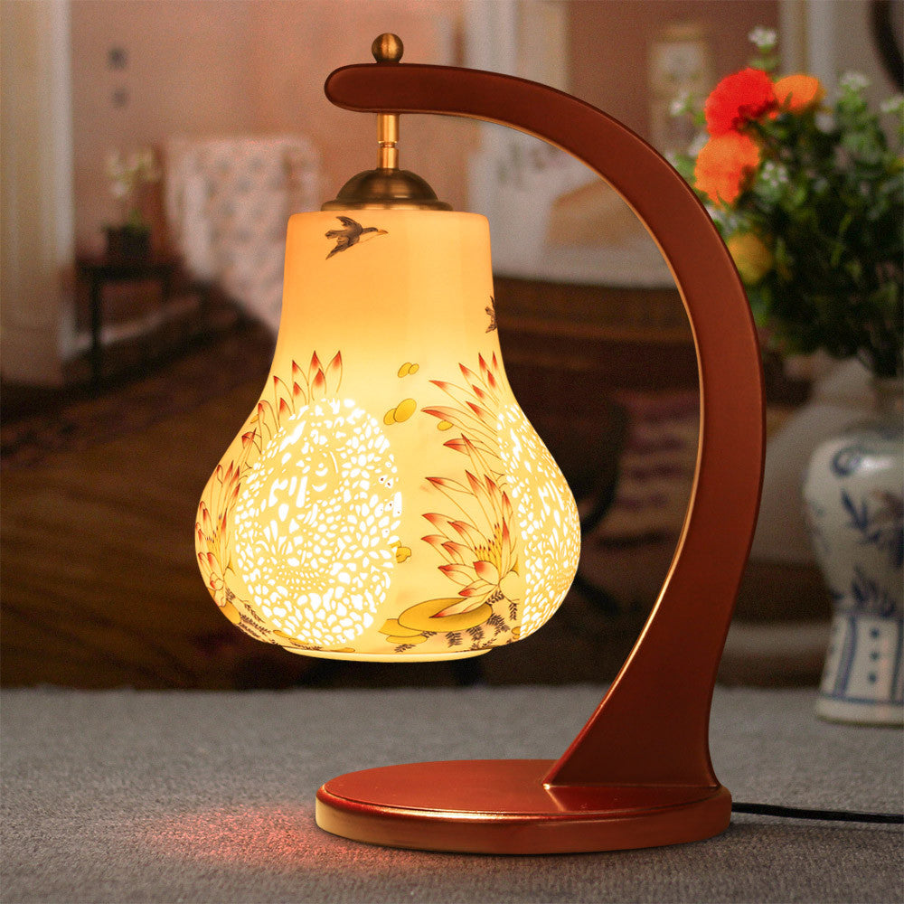 Chinese tradition inspired ceramic lamp glowing tin chinese tradition inspired ceramic lamp geotapseo Images