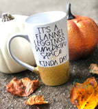 Flannel Leggings Pumpkin Spice Coffee Mug // Fall Mug