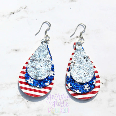 American Girl Earrings - 4th of July Earrings