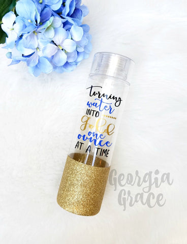 Breastfeeding Glitter Dipped Water Bottle / Turning Water into Gold One Ounce at a Time