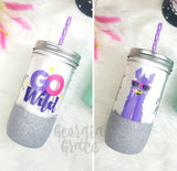 Go Wild Planner Tumbler // Glitter Cup // Cup for Planner // Go Wild Nashville Cup