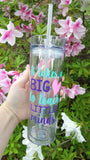 READY TO SHIP Teacher Tumbler // End of Year Teacher Gift // It take a big heart cup