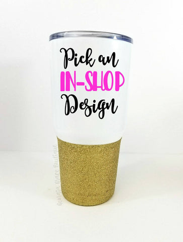 NEW and on SALE!!! 30 oz Vacuum Insulated Stainless Steel Glitter Dipped Tumbler // Glitter Cup //