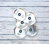 Set of 12 Wide Mouth Mason Jar Lid with Hole and Grommet