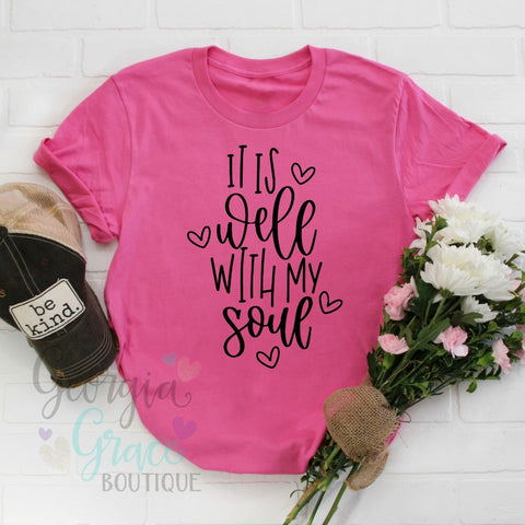 5831864e9 It Is Well With My Soul Tee Shirt