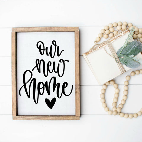 Our New Home Farmhouse Sign / Housewarming Gift / Realtor Gift