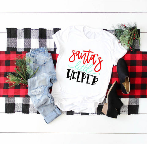 Santa's Little Helper Christmas Shirt