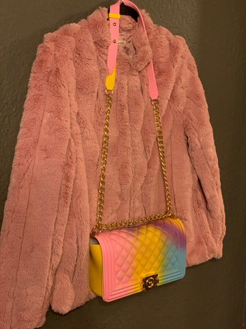 """PINK PANTHER"" FAUX FUR JACKET"