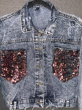 """LIL SPARKLE"" BLUEJEAN JACKET"