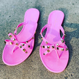 "THE ""BOW-TIE"" JELLY SANDALS (pink)"