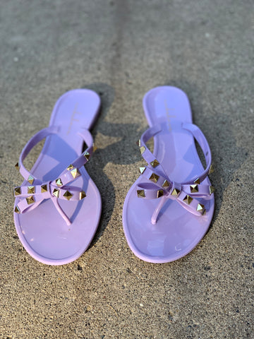 "THE ""BOW-TIE"" JELLY SANDALS (LAVENDER)"