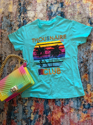 """Thou$naire Club"" Print T-Shirt"