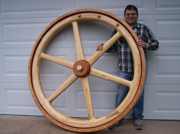 "64"" Flywheel 6-Spoke Straight Brown & Cochran (Special Order - Deposit)"