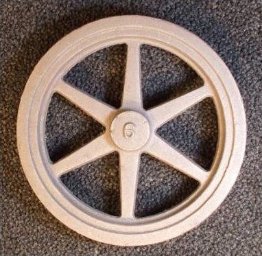 "6"" Flywheel  6-Spoke Straight Tapered"