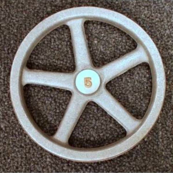"5"" Flywheel 5-Spoke Straight"