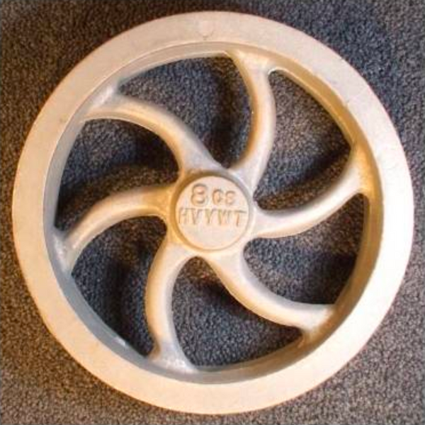 "8"" Flywheel 6-Spoke Curved (Heavyweight)"