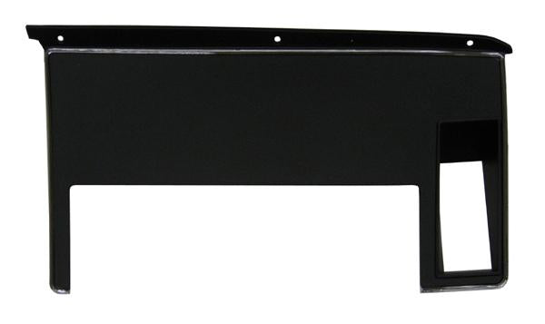 1971-1972 Ford Mustang Dash Panel, RH, w/Out Seat Belt Warning Light Hole