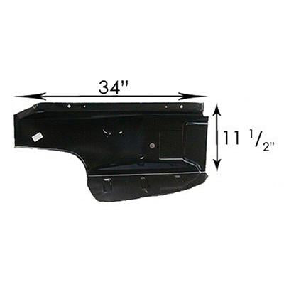 1964-1970 Ford Mustang TRUNK FLOOR RH WITH DROP OFF