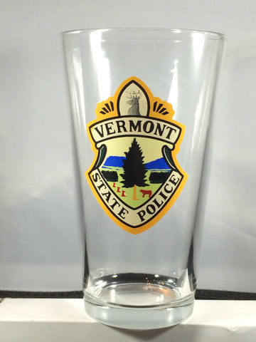 Vermont State Police Seal Drinking Glass - 16 ounces