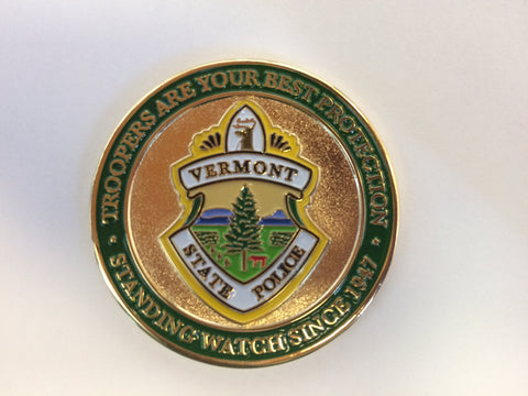 Vermont State Police Challenge Coin Patch