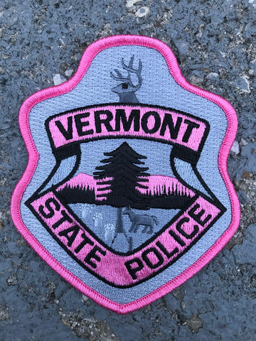 Vermont State Police Pink Patch