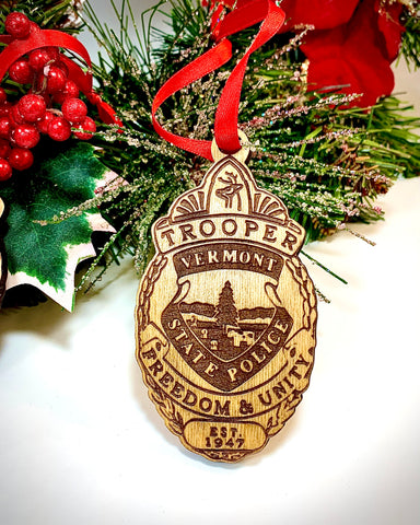Vermont State Police Badge Tree Ornament