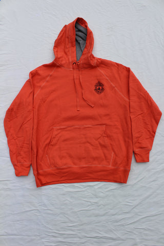 Vermont State Police Hooded Sweatshirt - Vintage Orange