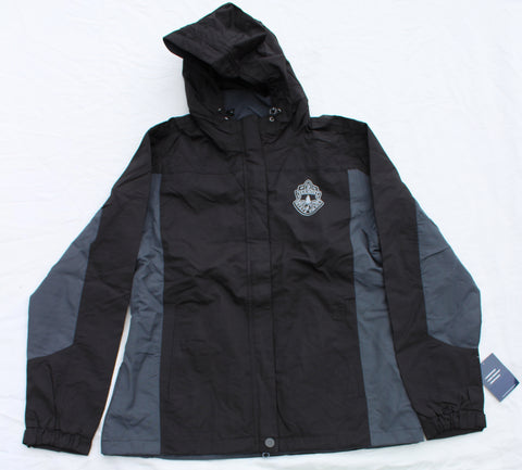 Ladies Vermont State Police Dry Shell Jacket - Black and Gray