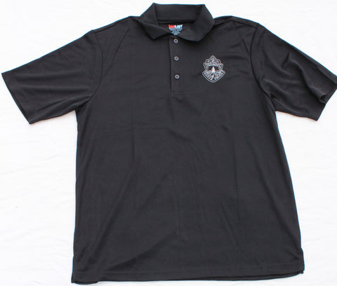 Men's Vermont State Police Dri-Tech Polo - Black