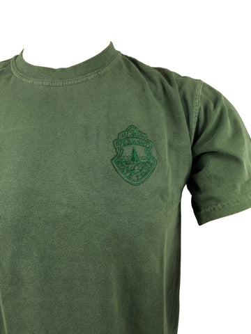 Vermont State Police Embroidered Subdued Patch T-Shirt - Green or Black
