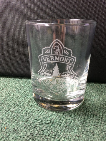 Vermont State Police 14oz Double Old Fashioned Glass