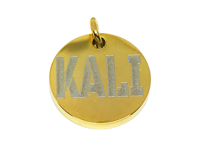 Stainless Steel Gold Dog Tags Polished Custom Dog Tag Metal Personalized gold dog collar tags ID - BIG DOG CHAINS