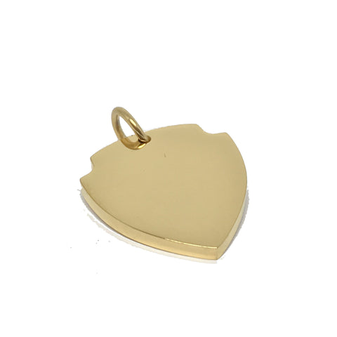 SHIELD | GOLD DOG ID TAG