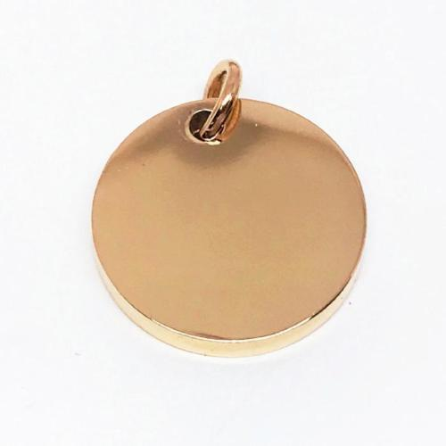 Rose gold dog id tag from Big Dog Chains