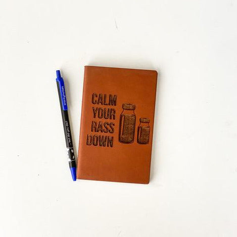 Leather Notebook: Calm Your RASS Down